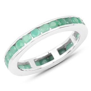 Olivia Leone Sterling Silver 1 5/8ct Emerald Ring
