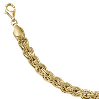 Versil 14k Gold Polished Fancy Link Bracelet