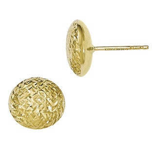 Versil 10k Gold Diamond-cut Post Earrings