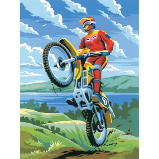 Junior Small Paint By Number Kit 8.75inX11.75inMotocross