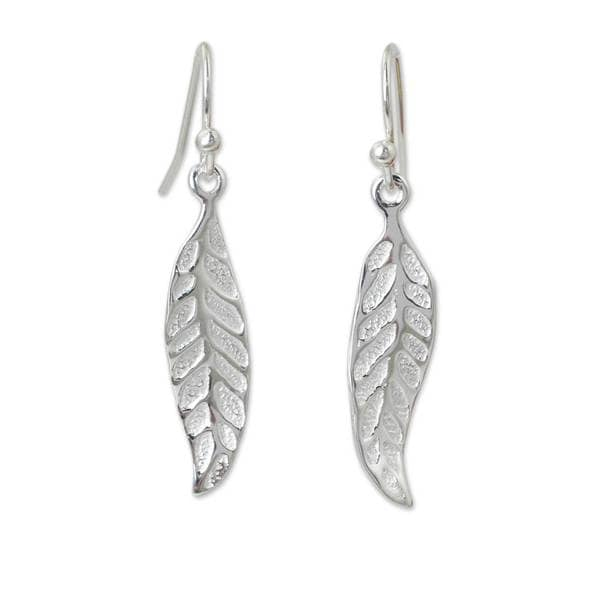 9cb7f927a Handmade Sterling Silver 'Pomegranate Protection' Earrings  (Thailand)