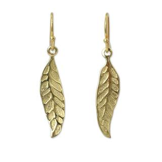 Handmade Gold Overlay 'Pomegranate Protection' Earrings (Thailand)