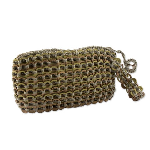 Soda Pop-top 'Copper Bronze Eco Chic' Wristlet Bag (Brazil)