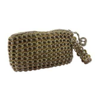 Soda Pop-top 'Copper Bronze Eco Chic' Wristlet Bag (Brazil)|https://ak1.ostkcdn.com/images/products/10562086/P17640112.jpg?impolicy=medium