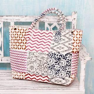 Handmade Cotton 'Blocks of Tradition' Shoulder Bag (India)