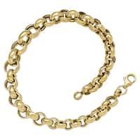 Versil 14 Karat Gold Polished Fancy Link Bracelet