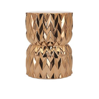Asmara Ceramic Gold Garden Stool