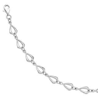 Versil 14k White Gold Polished Link Bracelet