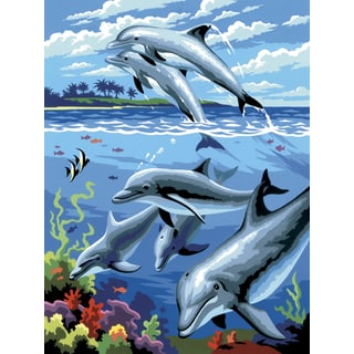 Junior Small Paint By Number Kit 8.75inX11.75inDolphins