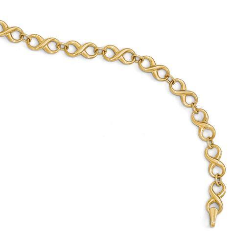 14 karat Gold Polished Infinity Bracelet by Versil