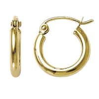 Versil 10k Yellow Gold Polished Hinged Hoop Earrings