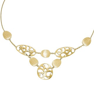 Versil 14k Gold Polished and Brushed with 2-inch Extension Necklace