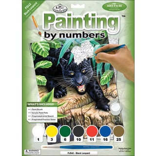 Junior Small Paint By Number Kit 8.75inX11.75inBlack Leopard