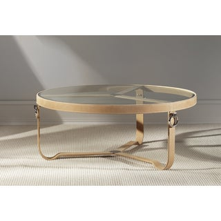 Saratoga Tan Coffee Table- Round