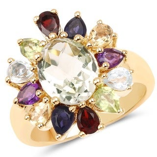 Olivia Leone 14k Goldplated Sterling Silver 4 1/2ct Multistone Ring