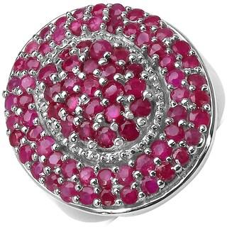 Malaika Sterling Silver 2 3/4ct Ruby Ring