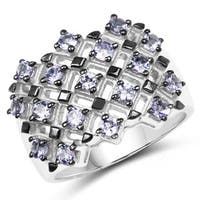 Malaika Sterling Silver 1 3/8ct Tanzanite Ring