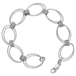 Versil Sterling Silver Fancy Link Bracelet
