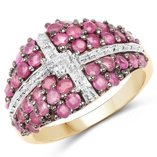 Malaika Goldplated Sterling Silver 1 3/5Ct Ruby Ring
