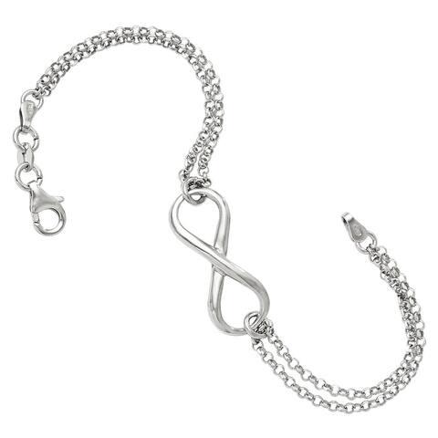 Sterling Silver Infinity Symbol Bracelet by Versil