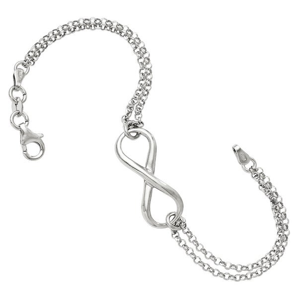 Shop Sterling Silver Infinity Symbol Bracelet On Sale Free