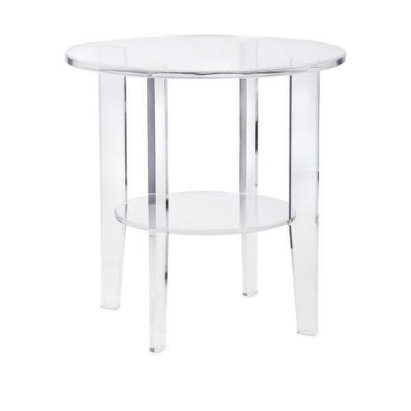 Estelle Clear Frosted Acrylic Accent Table