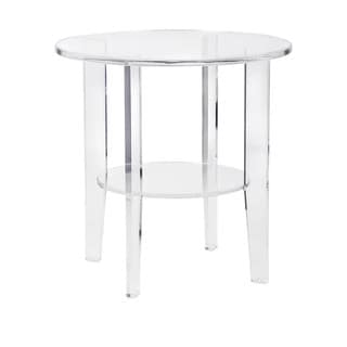 Estelle Clear/ frosted Acrylic Accent Table