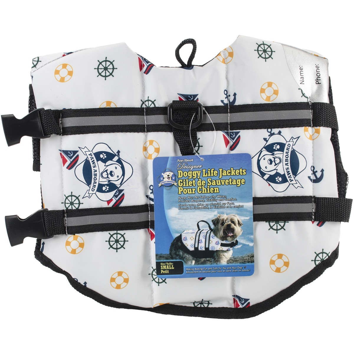 Paws Aboard Doggy Life Jacket SmallNautical Dog (Nautical...