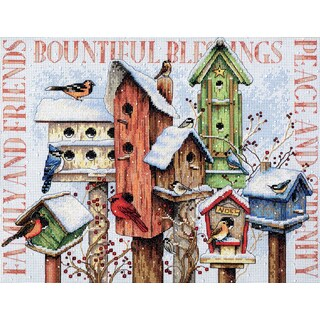 Winter Housing Counted Cross Stitch Kit18inX15in 14 Count