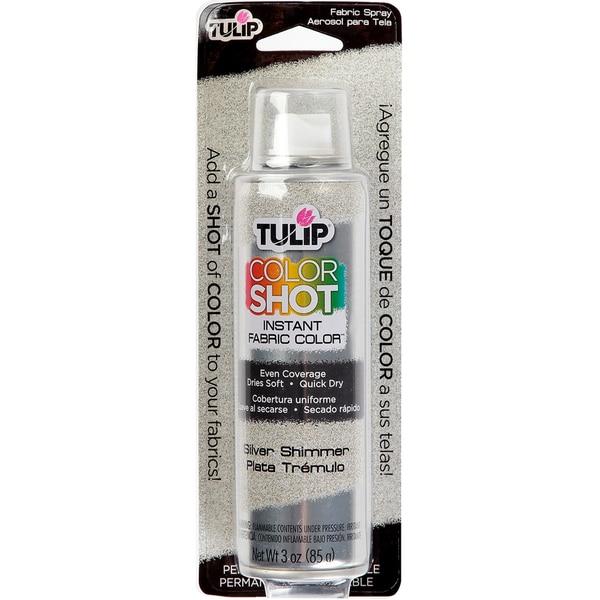 Shop Tulip Color Shot Instant Fabric Color Spray 3ozsilver