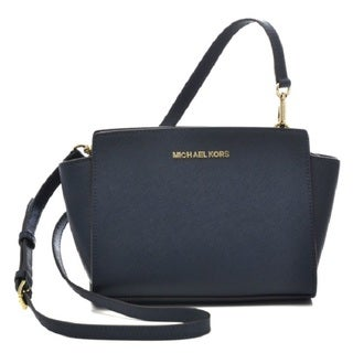 Michael Kors Selma Navy Medium Satchel Handbag