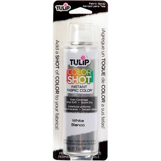 Tulip Color Shot Instant Fabric Color Spray 3ozWhite