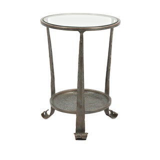 Gregory Bronze Occasional Iron and Glass Top Table