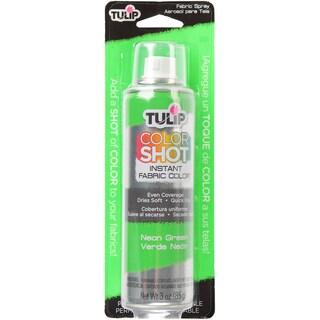 Tulip Color Shot Instant Fabric Color Spray 3ozNeon Green