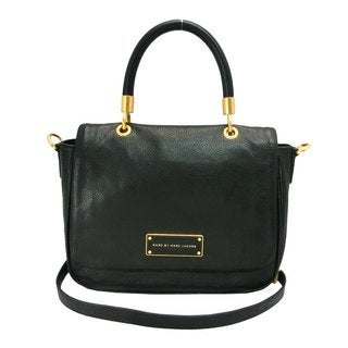 MARC BY MARC JACOBS Small Too Hot To Handle Black Leather Tote