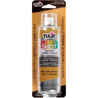 Tulip Color Shot Instant Fabric Color Spray 3ozGold Metallic