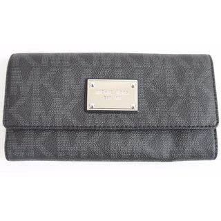 MICHAEL Michael Kors MK Black Logo Checkbook Wallet