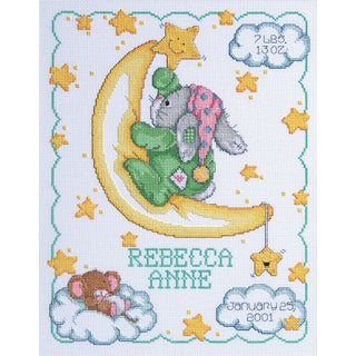 Crescent Moon Sampler Counted Cross Stitch Kit11inX14in 14 Count