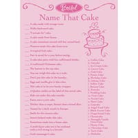 Bridal Game Sheets 50/Pkg Name That Cake
