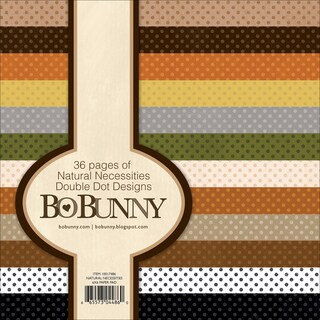 BoBunny Double Dot Paper Pad 6inX6in 36/PkgNatural Necessities