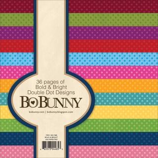 BoBunny Double Dot Paper Pad 6inX6in 36/PkgBold & Bright