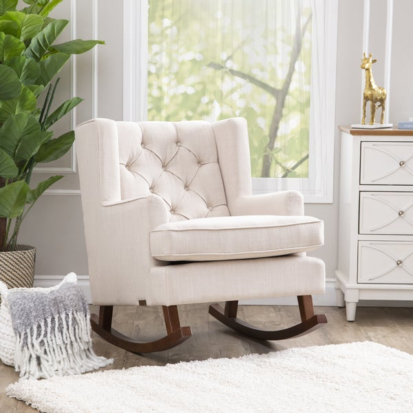 Abbyson Thatcher Fabric Rocker Chair