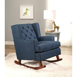 Abbyson Thatcher Fabric Rocker Chair (Option: Navy blue)