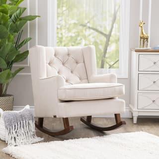 Abbyson Thatcher Beige Fabric Rocker Chair|https://ak1.ostkcdn.com/images/products/10562454/P17640479.jpg?impolicy=medium