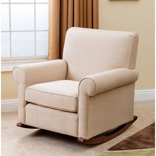 Abbyson Marcella Wheat Fabric Rocker Chair
