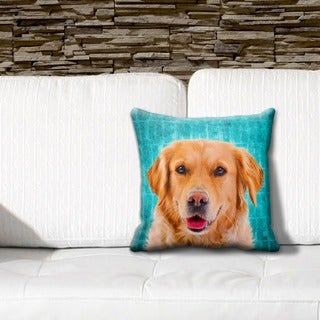 Golden Retriever Grunge 16-inch Throw Pillow