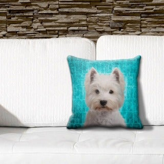 Highland Terrier Grunge 16-inch Throw Pillow