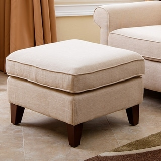 Abbyson Marcella Wheat Fabric Ottoman