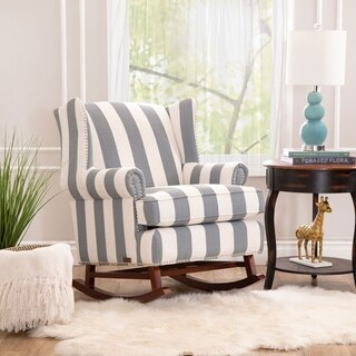 Abbyson Radcliffe Two Tone Fabric Rocker Chair