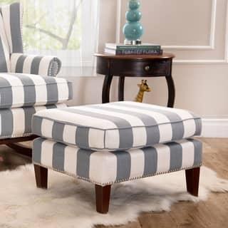 Abbyson Radcliffe Two-tone Fabric Ottoman